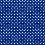 Sternenklarer blauer patriotischer Muster-Druck stock abbildung