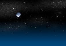 Sternenklarer Himmel lizenzfreie abbildung