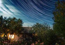 Sternenklarer Himmel stockfoto