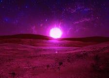 Sternenklarer Himmel Stockbild