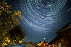 Sternenklarer Himmel lizenzfreie stockfotografie
