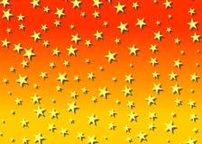 Sternenklarer Hintergrund in der Orange Stockfoto