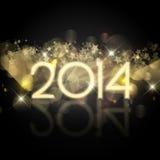 Sternenklarer Hintergrund des neuen Jahres lizenzfreie abbildung