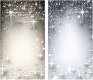 Sternenklarer Hintergrund des Winters Weihnachts Stockfotos
