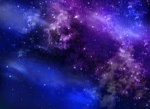 Sternenklarer nächtlicher Himmel Stockfotos