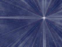 Sternenklarer nächtlicher Himmel Stockfoto