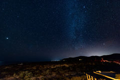 Sternenklarer nächtlicher Himmel Lizenzfreies Stockbild