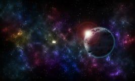 Sternenklarer nächtlicher Himmel des Hintergrundes Lizenzfreie Stockfotos