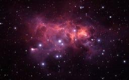 Sternenklarer Raumhintergrund des nächtlichen Himmels mit Nebelfleck Lizenzfreies Stockbild