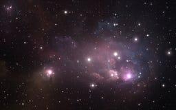 Sternenklarer Raumhintergrund des nächtlichen Himmels mit Nebelfleck Lizenzfreie Stockfotografie