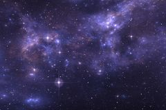 Sternenklarer Raumhintergrund des nächtlichen Himmels mit Nebelfleck Stockfoto