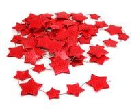 Sternförmige Girlande Stockfotos