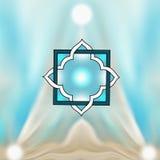 Sternförmige helle Vision, Fantasie, Meditation stock abbildung