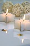 Sternförmige Kerzen Stockbild