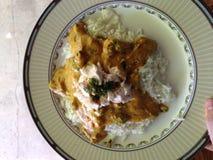 Sternförmiger Curryteller Stockfotos