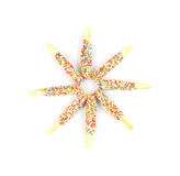 Sternform bunte Brotstöcke Stockbild