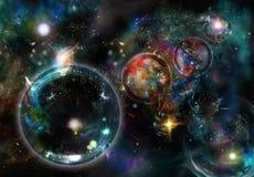 Sternhimmel lizenzfreie abbildung