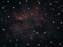 Sternkonstellationen im Himmel stock abbildung