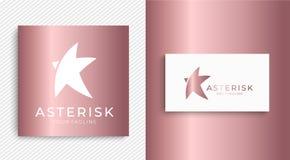 Sternlogo Abstraktes allgemeinhinlogo mit einem Sternsymbol für irgendein Geschäft Sternzeichen - ein Führer, ein Erfolg und eine lizenzfreie abbildung