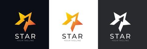 Sternlogo Abstraktes allgemeinhinlogo mit einem Sternsymbol für irgendein Geschäft Sternzeichen - ein Führer, ein Erfolg und eine vektor abbildung