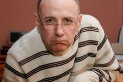 The incredulous man Royalty Free Stock Images