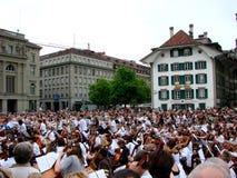 Sternspiel d'événement de musique à Berne Photographie stock libre de droits
