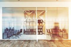 Sternwandmuster und Büro des Glasoffenen raumes Lizenzfreie Stockfotos