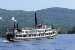 Sternwheel steamboat. Royalty Free Stock Photo