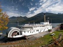 Sternwheeler dos SS Moyie em Kaslo Fotografia de Stock