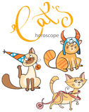 Sternzeichen in den Katzen: das Element von Erde Stockbild