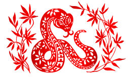 Sternzeichen für Jahr der Schlange Stockfotografie