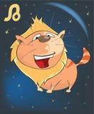 Sternzeichen Leo Cartoon Character Lizenzfreie Stockfotos