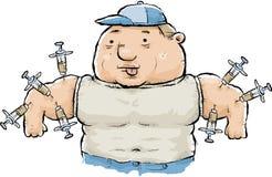 Steroid- missbruk vektor illustrationer
