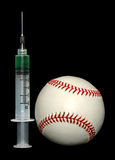 Steroids and baseball Royalty Free Stock Photos