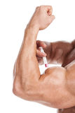 Steroids concept. Royalty Free Stock Photo