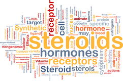 Steroids hormones background concept Royalty Free Stock Photos