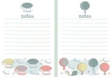 Sterowa i gorącego powietrza nutowego papieru writing papier Obrazy Stock