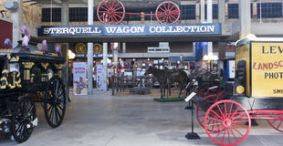 A Sterquell Wagon Collection at the Texas Cowboy Hall of Fame. FORT WORTH, TEXAS, MARCH 15. The Texas Cowboy Hall of Fame on March 15, 2017, in Fort Worth, Texas royalty free stock image