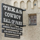 A Sterquell Wagon Collection at the Texas Cowboy Hall of Fame Si. FORT WORTH, TEXAS, MARCH 15. The Texas Cowboy Hall of Fame on March 15, 2017, in Fort Worth stock photo