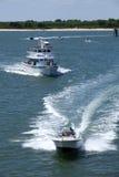 Sterrelichtcharter Vissersboot in Oerwoud, New Jersey Stock Fotografie
