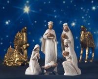 Sterrelichtgeboorte van christus Stock Afbeelding