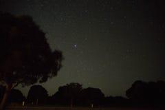 Sterrelichtnacht Stock Afbeeldingen