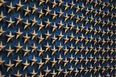 Sterren bij Gedenkteken 3 van WO.II - Washington DC Stock Fotografie
