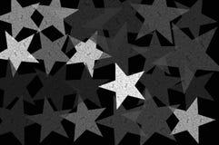 Sterren bij nacht grunge illustratie Royalty-vrije Stock Afbeelding