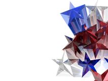 Sterren 3D illustratie Royalty-vrije Stock Fotografie