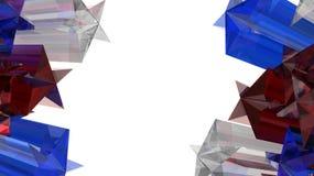 Sterren 3D illustratie Stock Afbeelding