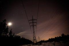 Sterren in de nacht Stock Afbeelding