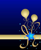 Sterren en ballons stock illustratie