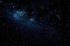 Sterren en de nachtachtergrond van de melkweg ruimtehemel Stock Afbeelding