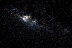 Sterren en de nachtachtergrond van de melkweg ruimtehemel Royalty-vrije Stock Foto's